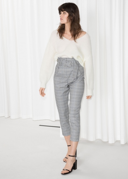 & Other Stories - High Waisted Belted Trousers