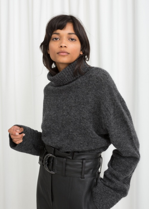 & Other Stories - Wool Blend Turtleneck Sweater