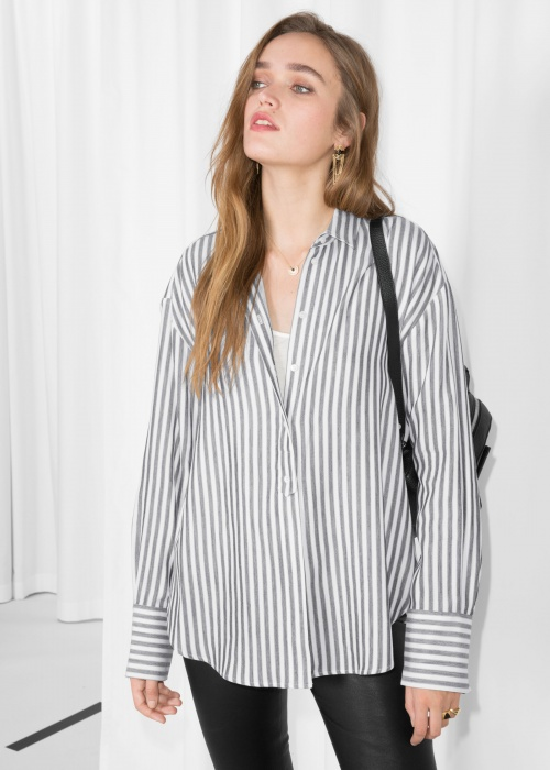 & Other Stories - Striped Cotton Shirt