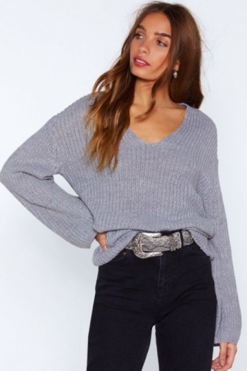 Nasty Gal - You Had Knit Coming V-neck Sweater