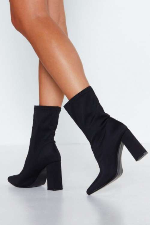 Nasty Gal - Game is Up Sock Boot