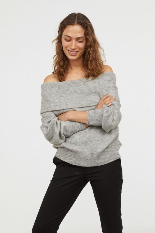 H&M - Pull Épaules Nues