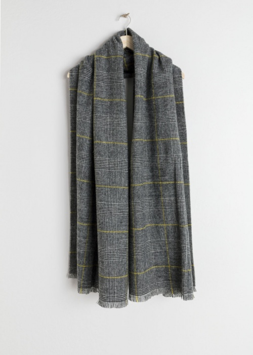 & Other Stories - Wool Plaid Scarf