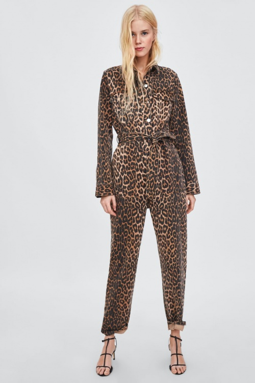 Zara - Combinaison à Imprimé Animal