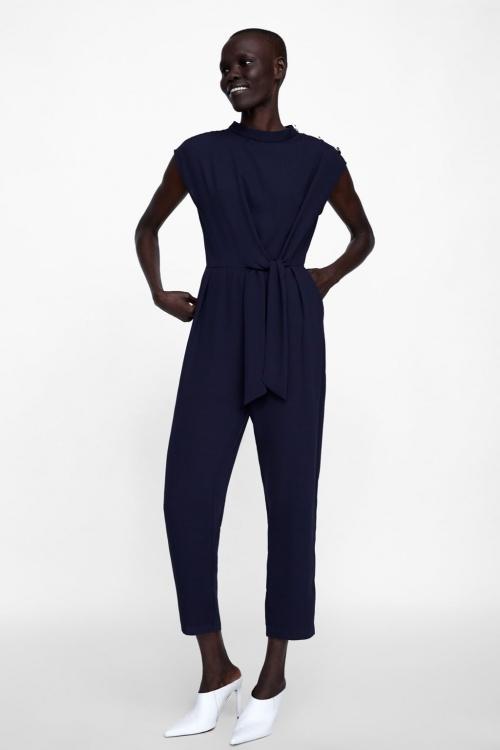 Zara - Combinaison avec Noeud et Boutons