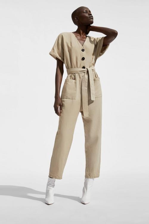 Zara - Combinaison à Boutons