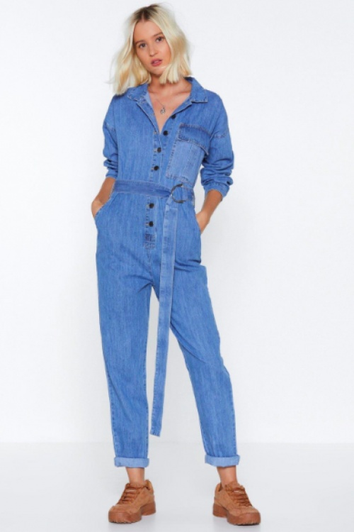 Nasty Gal - Jump Start Denim Jumpsuit