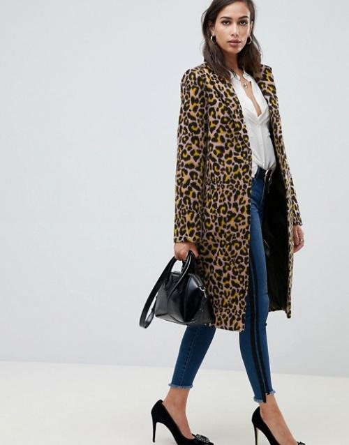 Manteau à imprimé léopard