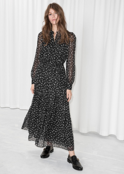 & Other Stories - Sheer Maxi Dress