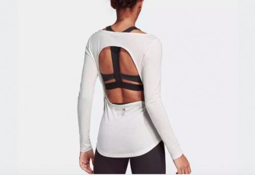 Adidas X Wanderlust - T-shirt manche langue ouvert dans le dos