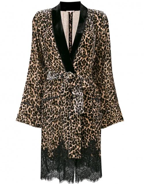 veste longue imprimé léopard