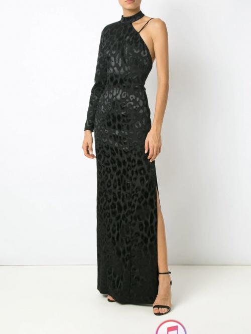 robe longue léopard