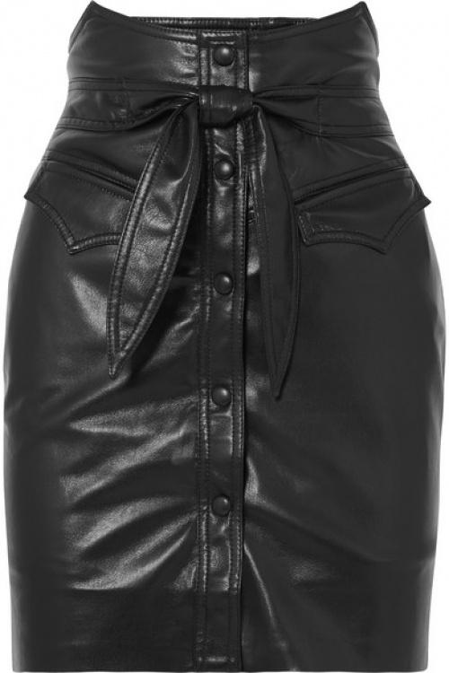 Mini-jupe en cuir synthétique vegan