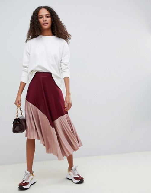 jupe mi-longue