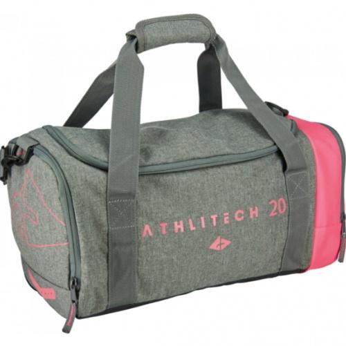 Athlitech - Sac de sport gris et rose