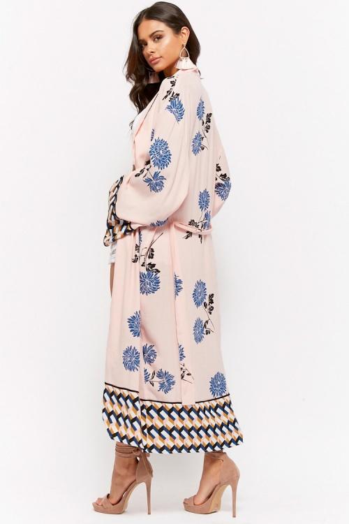 Forever 21 - Kimono long à imprimé floral