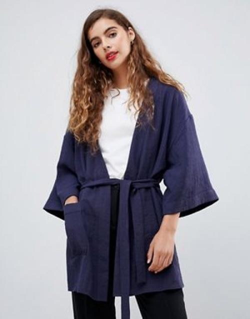 Monki - Blouse kimono longue