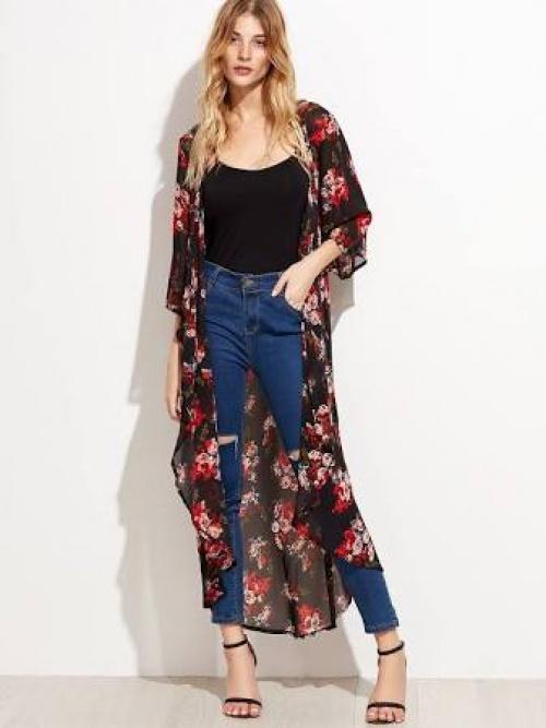 SHEIN - Kimono fleuri