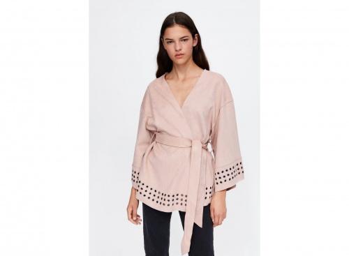 Zara - Veste kimono effet daim