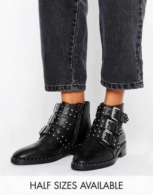 ASOS DESIGN - Bottines cloutées
