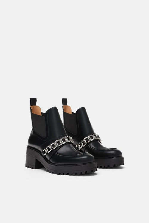 Zara - Bottines avec chaîne