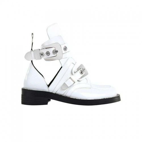 Jessica Buurman - CRUSH White Cutout Boots
