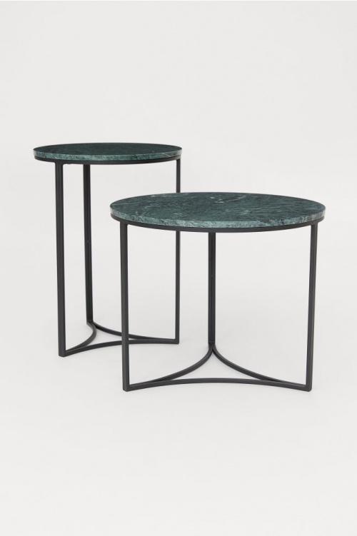 H&M - Table d'appoint en marbre
