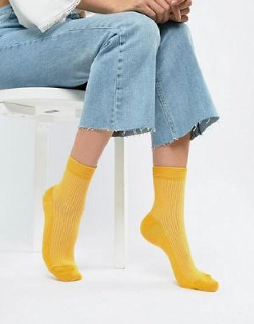 ASOS DESIGN - Chaussettes côtelées unies