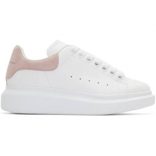 Alexander McQueen - Baskets surdimensionnées blanches et roses