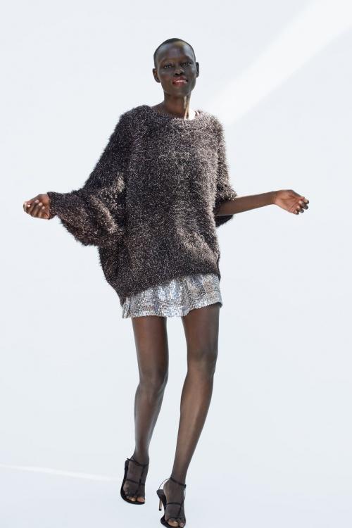 Zara - Pull long texturé