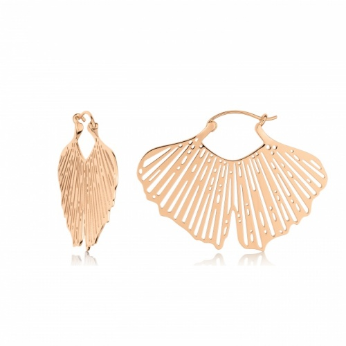 Ginette NY - Boucles d'oreilles Gingko Hoops