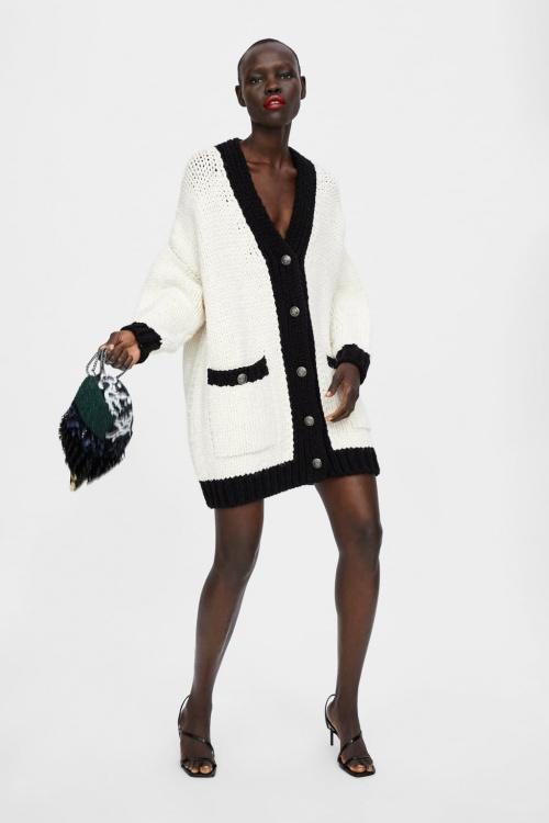 Zara – Veste oversize color block