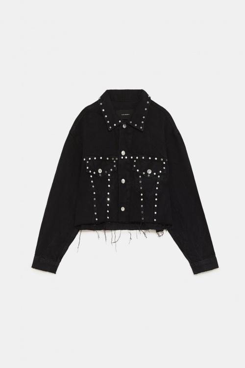 Zara - Veste en jean ZW premium rocky cropped