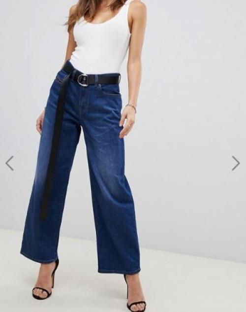 Diesel - Jean large taille haute