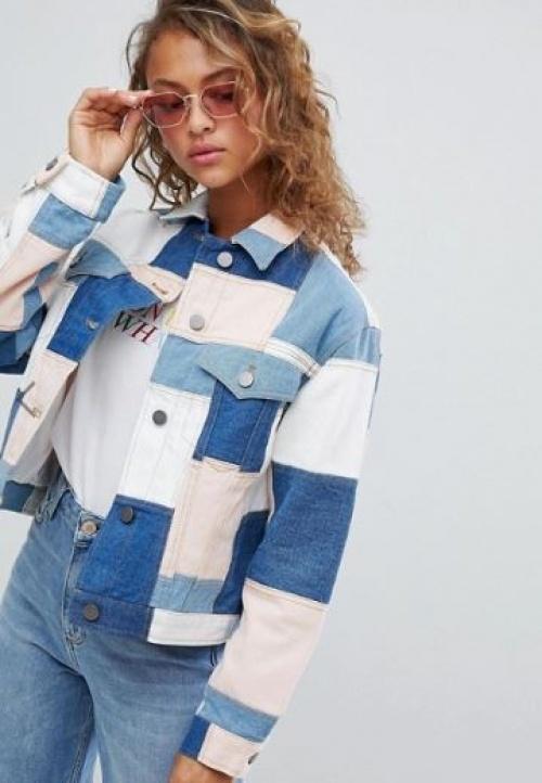 ASOS DESIGN - Veste en jean à motif patchwork