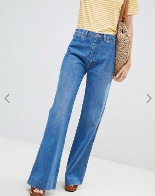 MIH Jeans - BAY - Jean évasé taille haute
