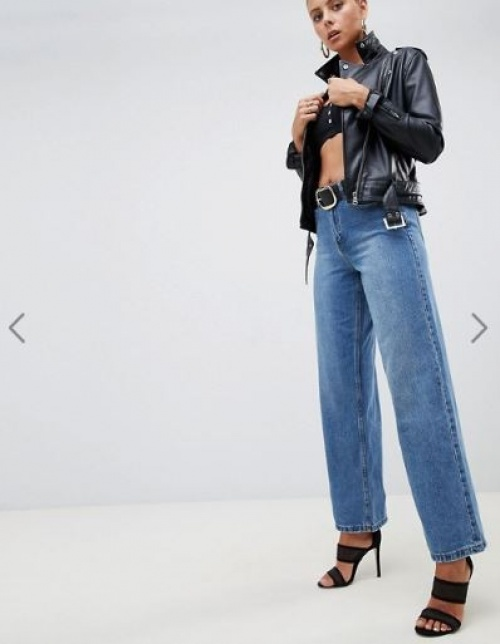 Missguided - Jean large taille haute