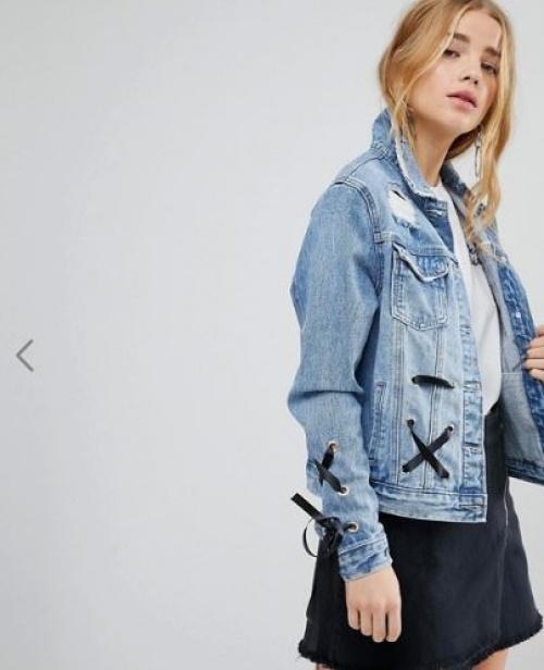 Urban Bliss - Veste en jean à laçage