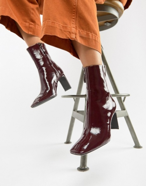 Bershka - Bottines vernies