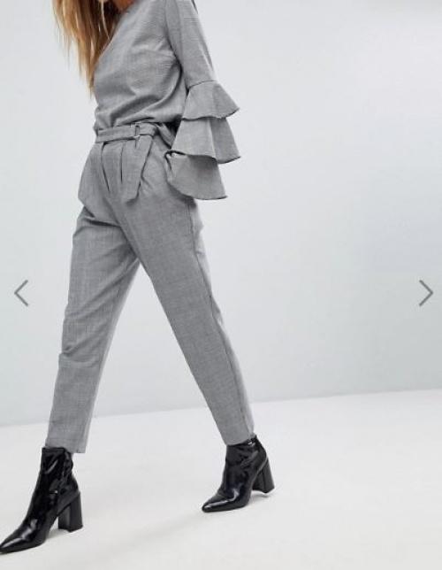 Pimkie - Pantalon taille haute à carreaux