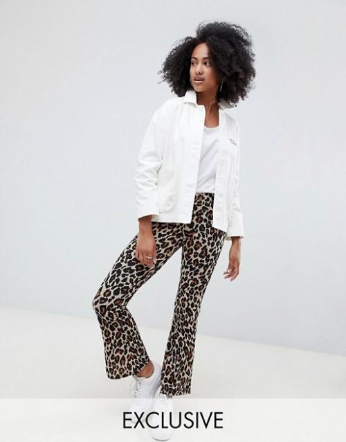 Daisy Street - Pantalon évasé léopard