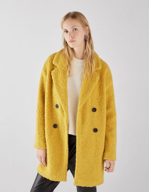 Bershka - Manteau en laine bouclée