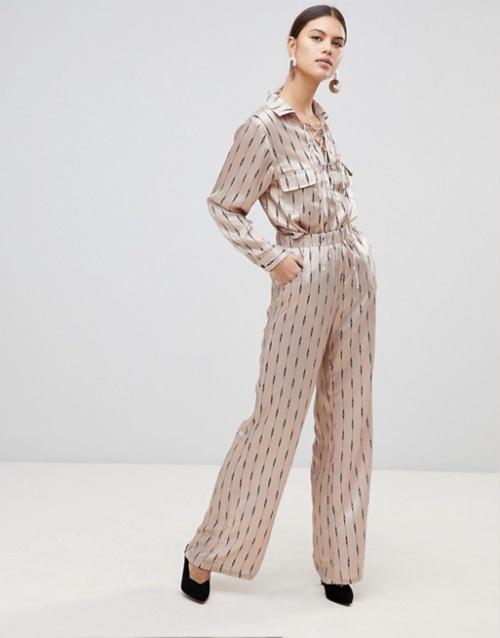 None the Richer - Pantalon ample imprimé en soie