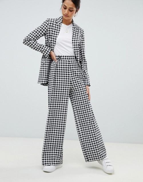 ASOS Design - Pantalon large à motif pied-de-poule