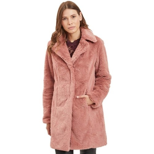 Vila - Faux Fur Coat Rose