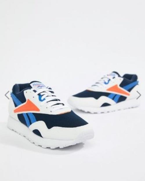 Reebok - Rapide Mu - Baskets - Bleu marine et orange