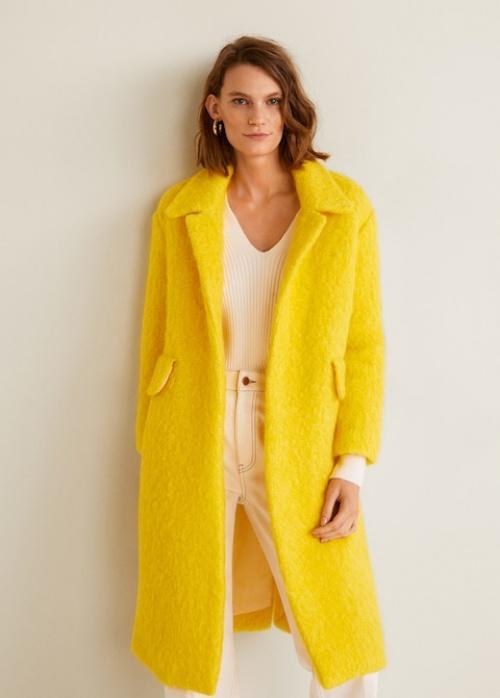 Mango - Manteau destructuré en laine