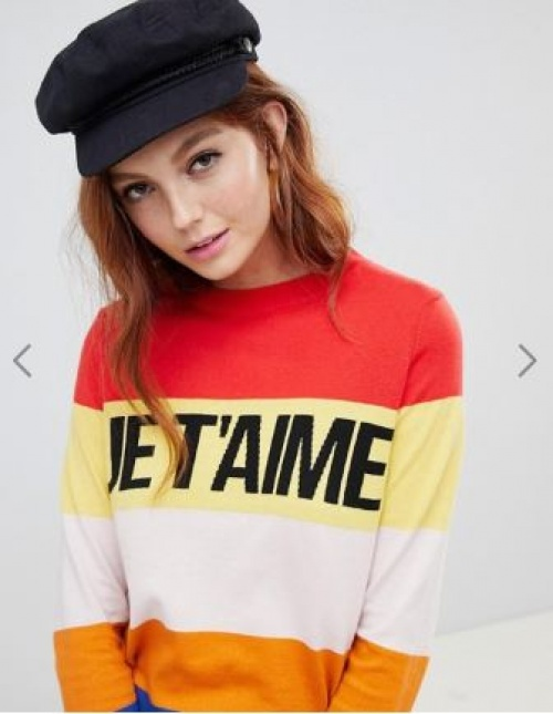 New Look - Pull avec inscription Je T'aime