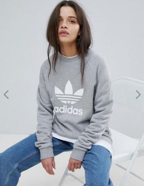 adidas Originals - Sweat-shirt ras du cou avec logo trèfle