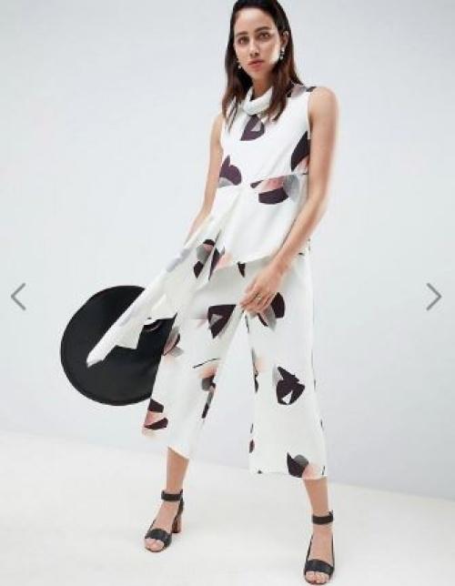 ASOS WHITE - Jupe-culotte à fleurs (ensemble)